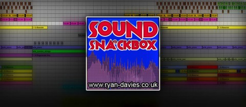 The Logo for Sound Snackbox - A SFX Library by Ryan Davies