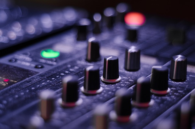 music mixing console